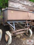 brown gravity wagon