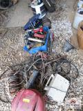 Lot Of Misc. Electric Tools, Hose, Electric Motor, Tire, Ect.