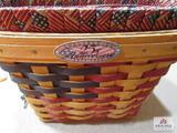 Longaberger Basket 25Th Anniversary Basket #17612 1998