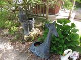 Giraffe And Donkey Flower Pot