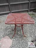 Red Patio Table