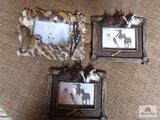 (3) Horse Picture Frames