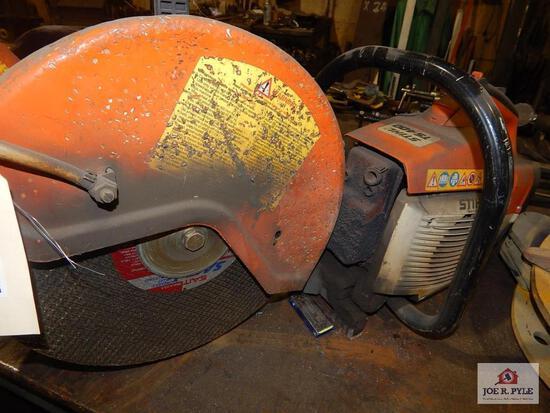 Stihl TS 400 concrete saw