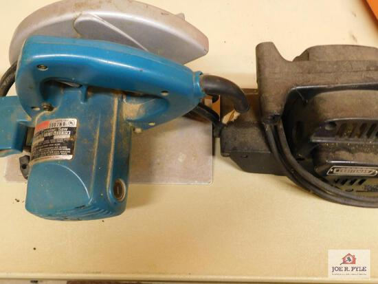 Makita circular saw & Craftsman belt sander