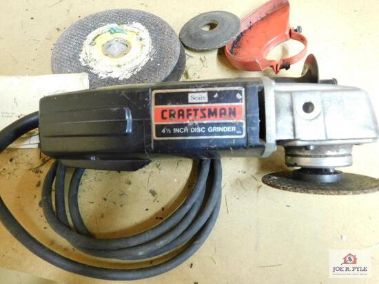 """Craftsman 4.5"""" disk grinder"""