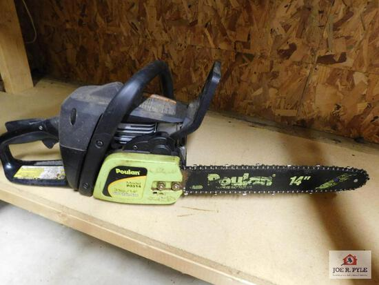 Poulan gas-powered chain saw 14""