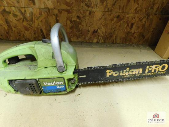 Poulan 1800 gas-powered chain saw