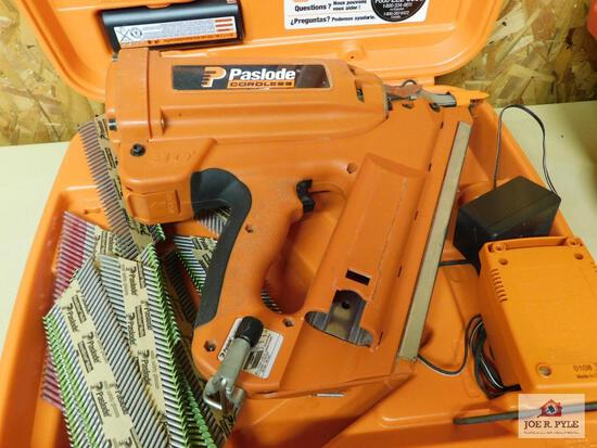 Paseload cordless 30 degree framing nailer w/ charger & battery