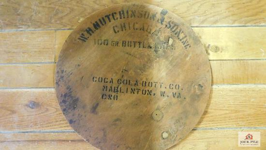 Barrel lid from the Coca-Cola Bottling Company in Marlinton, WV