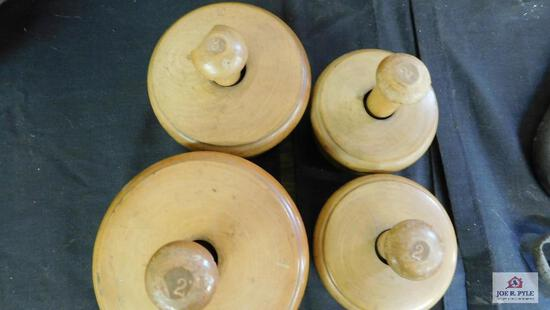 Wooden butter molds various sizes