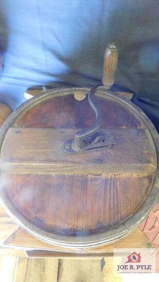 Vintage barrel butter churn