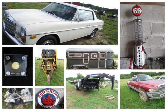 Farm Equipment, Vehicles, Tools, Coins, & more