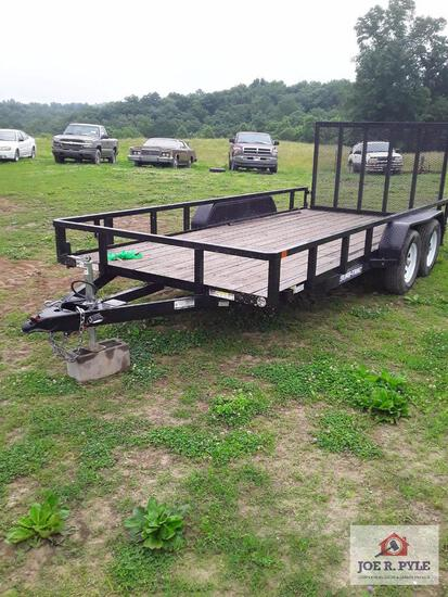 2019 Sure Track 16 Ft Utility Trailer With Drop Down Gate Vin # 5Jw1U1620K1249249