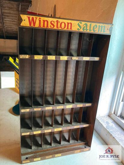 Vintage Winston Salem Cigarette display rack