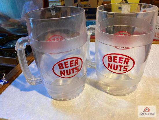 Two Beer Nuts advertising pitchers