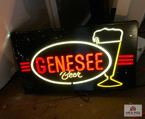 Vintage lighted Genesee Beer bar sign