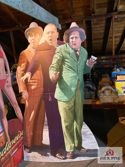 Three Stooges cardboard stand up