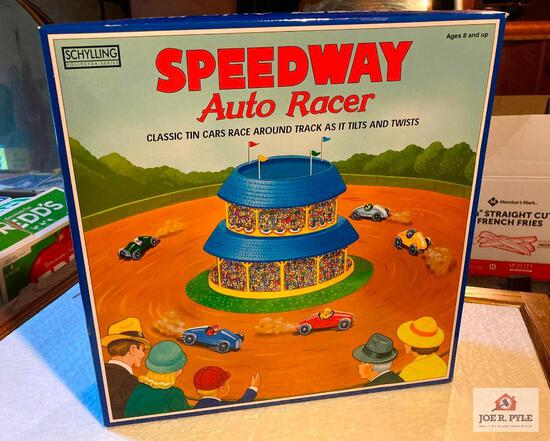 Tin Speedway Auto Racer toy new reproduction