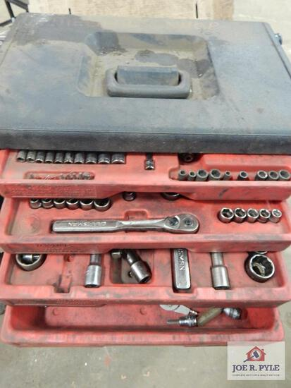 "Craftsman tool box set - 1/4"", 3/8"" & 1/2"" drive"