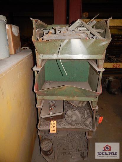Steel organizer bin w/ bolts