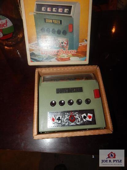 Waco battery operated draw poker toy w/ box