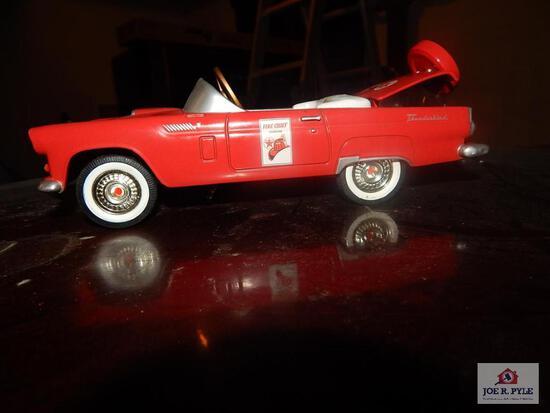 Gear box Fire Chief gasoline metal bank toy pedal car