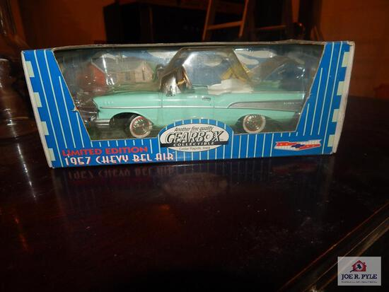 Limited edition 57 Chevy Belair chain driven pedal car w/ bank in box (gear box)