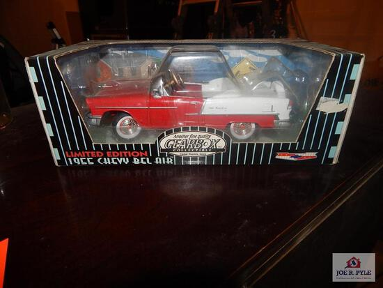Gear Box limited edition 55 Chevy Belair chain driven pedal car w/ bank in box