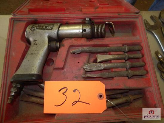 Snap-on air chisel and attachments