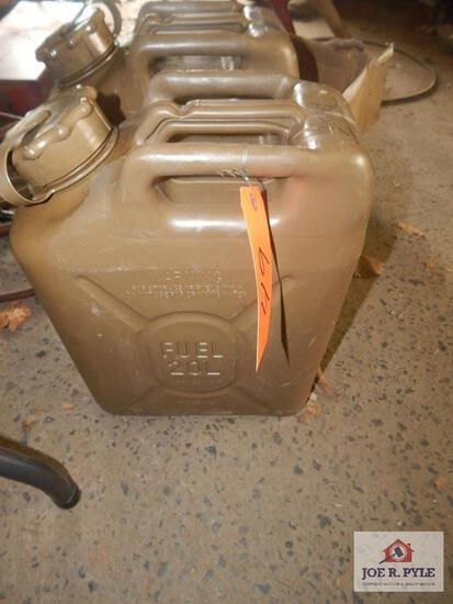 Two 20L fuel cans