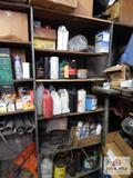 Contents of shelf - one lot of miscellaneous oil and lubricants