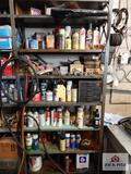 Contents of shelf to include miscellaneous spray paint, O-rings, etc.