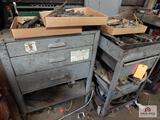 2 Steel work tables and sockets