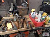 2 Flats of hammers & flash light