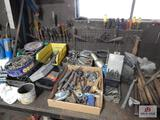Large lot of drill bits, screwdrivers, punches, etc.