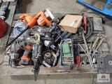 Lot of power tools, oxy acetylene, snips, etc.