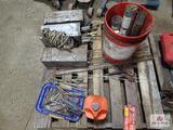 1 Lot of welding rods, chain oil, etc.