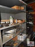 2 Shelves of hydraulic hoses, leaf springs, etc.