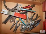 Lot of channel locks, cutters & pliers