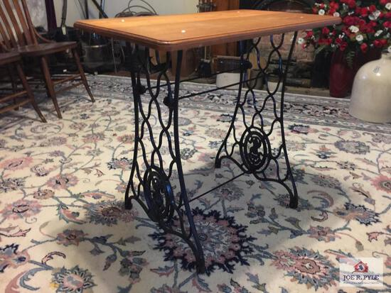 Antique Singer sewing machine base table