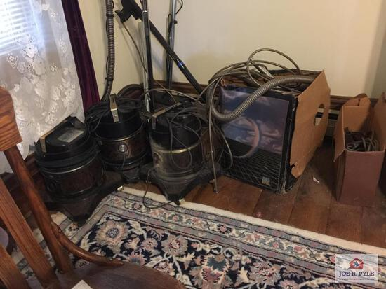 Lot 3 Rainbow vacuum cleaners and accessories