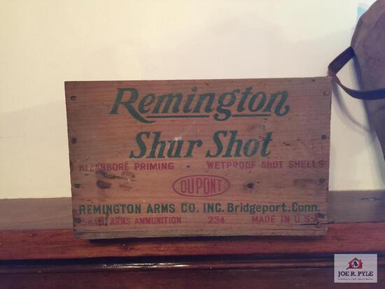 Remington Shur Shot wood crate