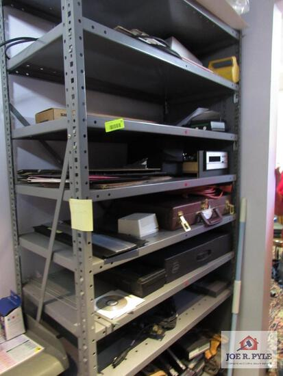 8 Tier Metal Shelf And Contents