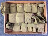 {160} Three bandoleers of .30 Carbine ammunition