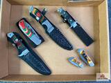 {129} Flat of (6) knives