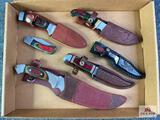{130} Flat of (6) knives