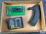 {152} Misc. sportsmans lots: polymer AK-47 magazine, Remington Super Cel recoil pad, CP Tactical