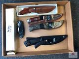 {134} Lot of (5) knives: (4) NWTF knives, (1) NRA folding knife