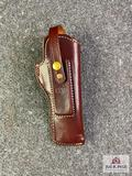 {147} Triple K Style 39SL Suede Lined leather holster (fits SW22 Victory 5 1/2