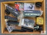 {143} Lot of misc. rail accessories + NcStar Universal Tri-Rail Mount Tactical Laser